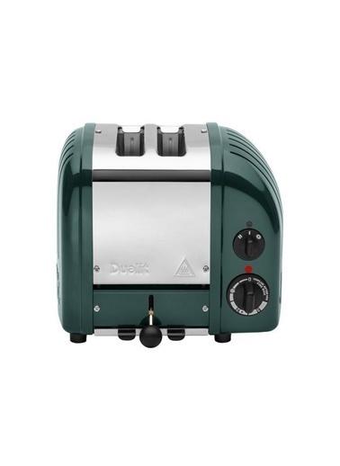 Quail 27520 Classic  2 Hazneli Çam Yeşili Çelik Ekmek Kızartma Makinesi Yeşil